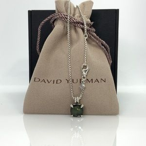 David Yurman Châtelaine Necklace w/Green Orchid